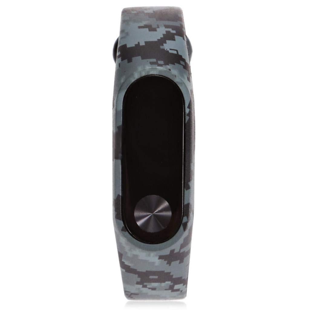 Correas xiaomi Band 2, ☀️Modaworld Nueva Correa del Reloj Elegante de TPU de Manera Pulsera de reemplazo para Xiaomi Miband 2 (C)