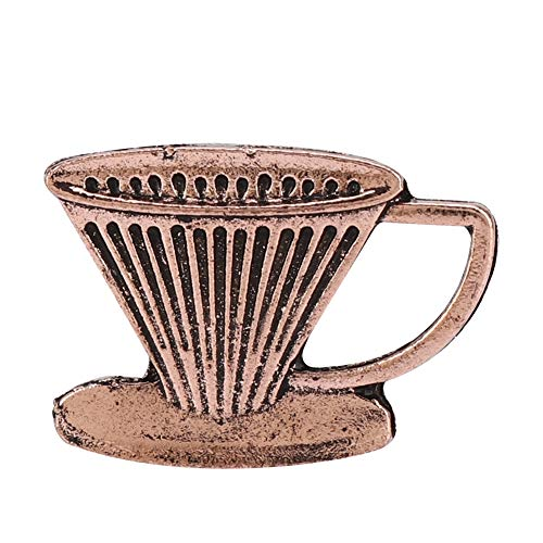 Mini Alloy Cute Novel Coffee Kettle Cup Bean Series Decorative Brooch Pin for Woman Office Party Daily - Novel Kettle
