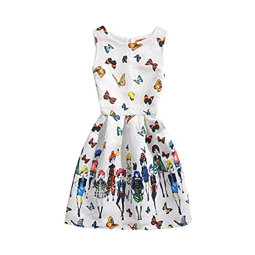 Partito 3 C Playwear Erosebridal I Vestito Fiore Bambina Per Da Stampato Maniche Bambini 8t qZZpxP5w