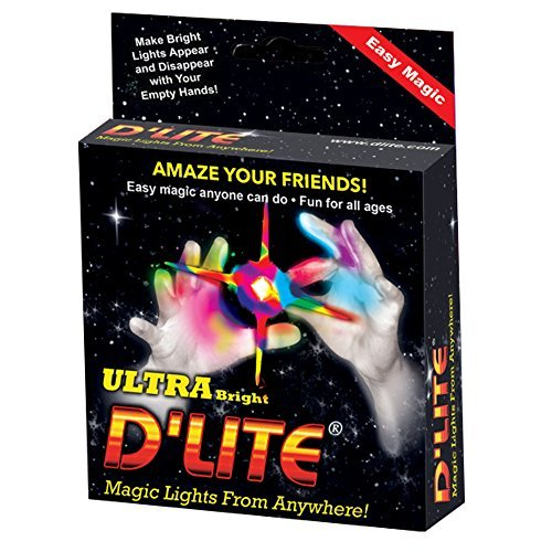 (D'lite Lightup Magic - Thumbs Set / 2 Original Amazing Ultra Bright Light - Closeup & Stage Magic Tricks - Easy Illusion Anyone Can Do It - See Box for)