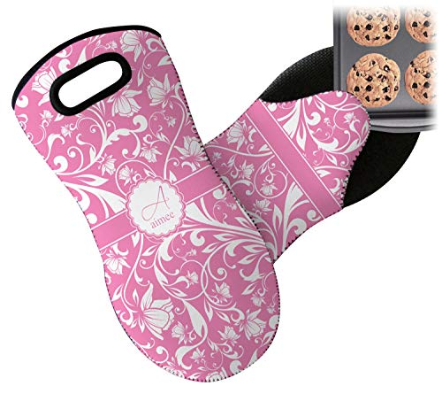 Personalized Oven Mitts - RNK Shops Floral Vine Neoprene Oven Mitt (Personalized)