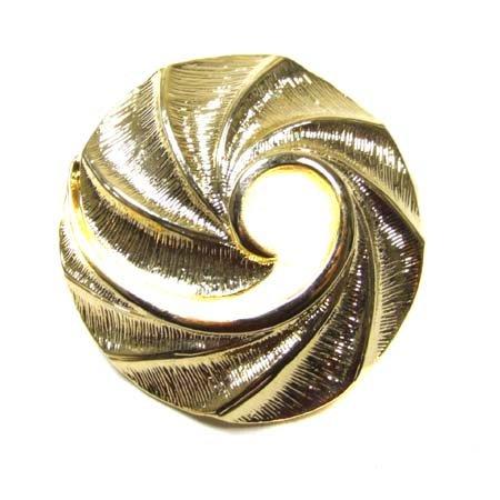 Gold Tone Swirl Pin (Bright Gold Tone Swirl Pin)