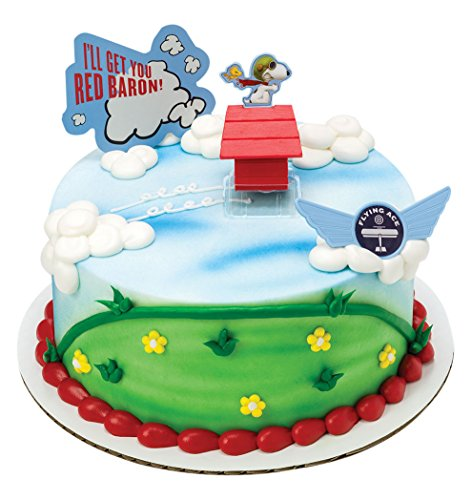 DecoPac The Peanuts Movie Flying Ace DecoSet Cake Topper ()