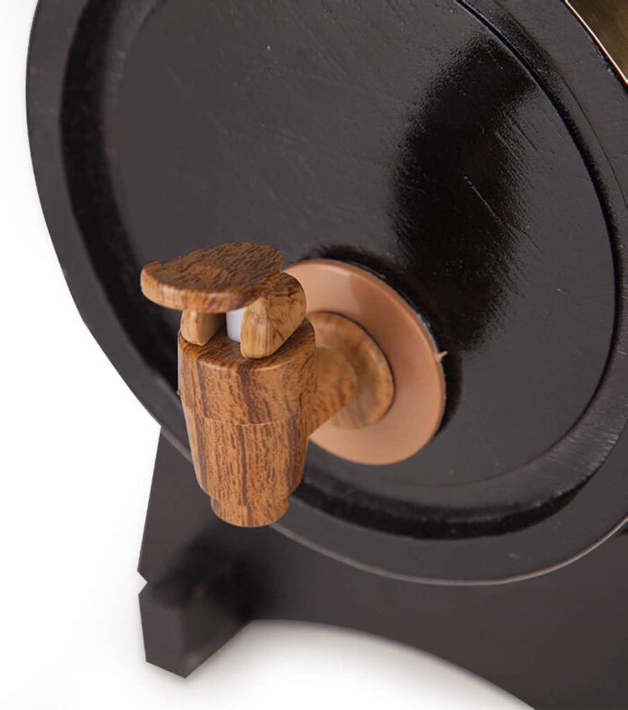 marr/ón HQCC Barriles de Roble Color : Brown Almacenamiento dom/éstico de Vino//Cerveza dispensador de Madera a Granel con Grifo, 5 litros