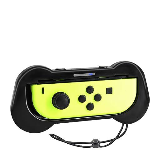 Joy-Con Grips para Nintendo Switch, Yocktec Joy Con Comfort Grip Handle Kit Funda protectora Shell - Mejor ajuste para Nintendo Switch Juegos como Mario ...
