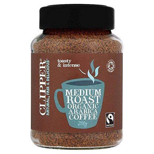 Clipper Fairtrade Organic Instant Medium Roast Arabica Coffee - 200g (Best Organic Coffee Uk)