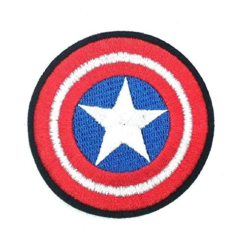 Captain America Shield Patch Iron on Full Embroidered Patches