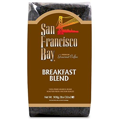 Hot Top Coffee Roaster - San Francisco Bay Coffee, Breakfast Blend- Whole Bean, 2-Pound (32 oz.)