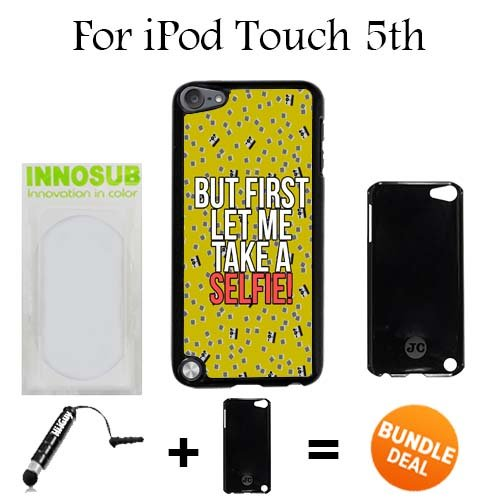LET ME TAKE A SELFIE Custom iPod 5/5th Generation Cases-Black-Plastic,Bundle 2in1 Comes with Custom Case/Universal Stylus Pen by innosub (Ipod 5th Generation Selfie Cases)