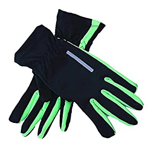 Cycling - Winter Outdoor Running Touch Screen Gloves Palm Key Bag Windproof Warm Play Mobile Phone Touch Glove - Contact Projection Tactile Sensation Blind Reach Shield Hint Test - 1PCs