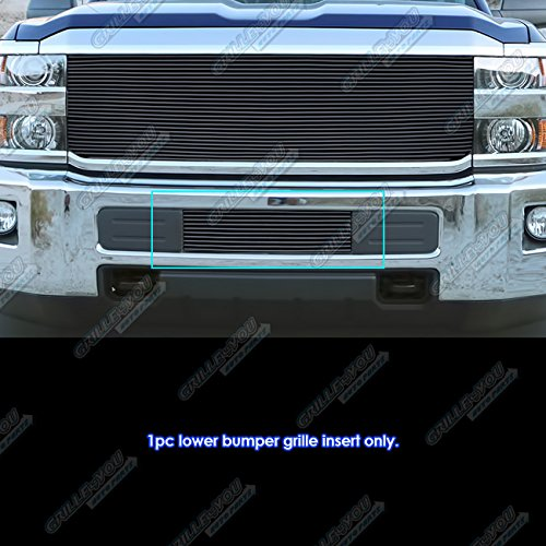 Fits 2015-2018 Chevy 2500HD/ 3500HD Bumper Black Billet Grille Insert (Chevrolet Silverado Grille Insert)