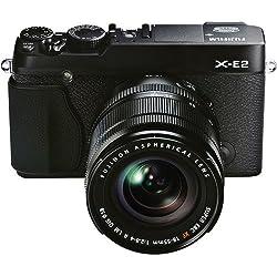 Fujifilm X-E2 Fotocamera Digitale 16 MP, Sensore X-Trans CMOS II APS-C, Ottiche intercambiabili e Obiettivo Zoom XF18-55 MM F2.8-4 R LM OIS, Nero