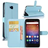 Huawei Ascend XT Case, Fettion Premium PU Leather Wallet Flip Phone Protective Case Cover with Card Slots, Stand Feature and Magnetic Closure for Huawei Ascend XT / H1611 Smartphone (Blue)
