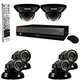 REVO America R84D2GT4G-1T 8-Channel 1TB DVR Surveillance System with six 700TVL 100-Feet Night Vision Cameras (Black) Review