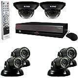 REVO America R84D2GT4G-1T 8-Channel 1TB DVR Surveillance System with six 700TVL 100-Feet Night Vision Cameras (Black)