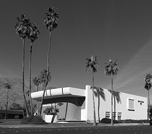 24 x 36 B&W Giclee Print Built in 1959 City National Bank, The Bank America Building Became a Favorite Stop on Modern-Architecture Tours Palm Springs, California 2013 Highsmith 51a (Best Architecture Tour Palm Springs)