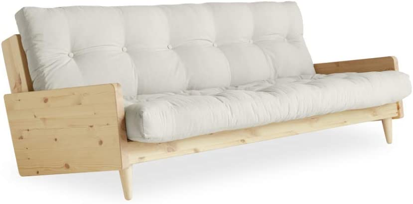 Indie Futon Sofa Bed by Karup Design – Easily converts into Day Bed Natural Mattress Color