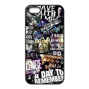 iPhone 5 5s funda Negro [KHOAOKOFK1714] CUSTOM un día para recordar el tema el iPhone 5 5s funda