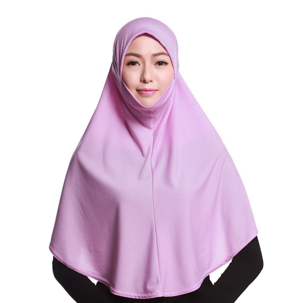 Daxin Muslim Hijab Amira Islamic Solid Soft Scarf Long Hejab Head Shawls DAX-IN00041R