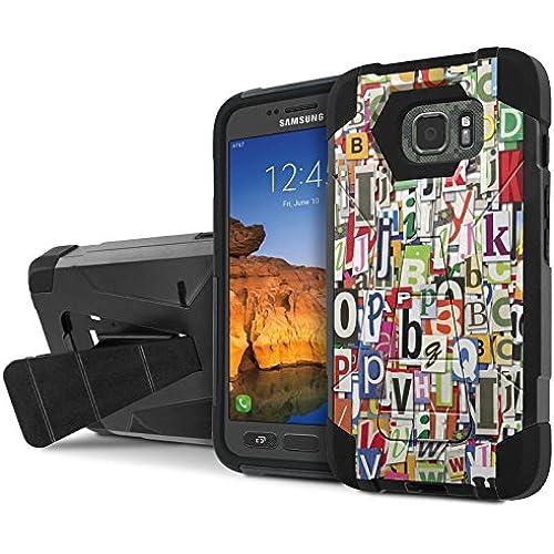 AT&T [Galaxy S7 Active] Armor Case [NakedShield] [Black/Black] Tough ShockProof [Kickstand] Phone Case - [Alphabet Sales