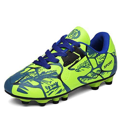 XiXiHao Unisex's Indoor Futsal Soccer Shoes Sneakers Ankle Boots 7 B(M) Women EU 38 Green