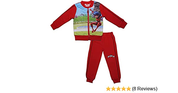 MIRACULOUS Tales of Ladybug /& Cat Noir Girls Childrens Panel Long Sleeved Tracksuit New 2017-2018