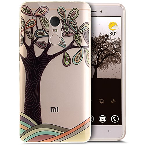 Price comparison product image Xiaomi Redmi Note 4 Case, Xiaomi Redmi Note 4 Cover, ikasus Ultra Thin Soft TPU Case, Art Painted Pattern Soft Silicone Rubber Case, Crystal Clear Soft Silicone Back Cover for Xiaomi Redmi Note 4, Art Tree