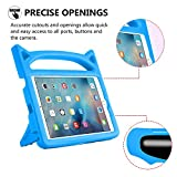 iPad Mini 1 2 3 Case, iPad Mini 4 Case, Huaup Kids Proof Shockproof Protective Case Durable Light Weight Stand Case Carrying Handles for iPad Mini 4 3 2 1 Tablet (Blue)