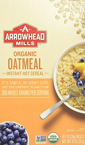 Arrowhead Mills Organic Instant Oatmeal Hot Cereal, 10 Count (Pack of - Mills In Ca Ontario Ontario