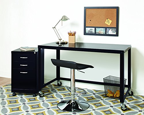 "Space Solutions Portable Office Desk / Workstation with wheels - Home Office Collection 29.5"" x 48\"" x 24\"""