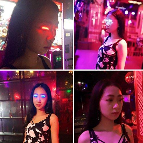 Club Curls Wig (Nesee Fashion Icon Saloon Pub Club Bar Party LED Eyelashes Eyelid False Eyelashes (Blue))