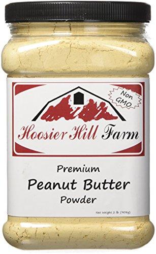 Hoosier Hill Farm Peanut Butter Powder, 2 Lbs., Non-GMO, Made in USA by Hoosier Hill Farm
