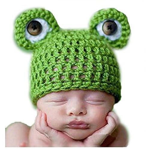 Gorro de bebé diseño rana y oveja  0080f0edbbe