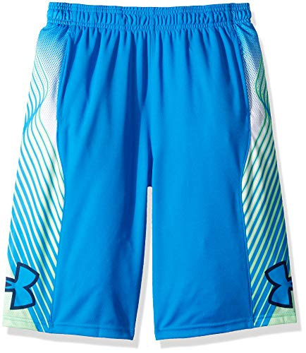 Under Armour Boys' Space The Floor Shorts, Blue Circuit (436)/Blue Circuit, Youth X-Large