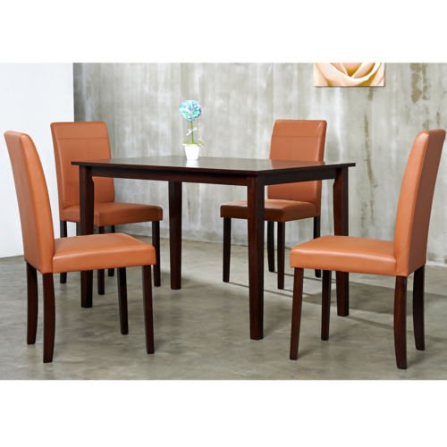 Merveilleux Warehouse Of Tiffany 5 Piece Toffee Dining Furniture Set Table Chair