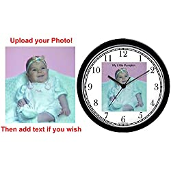 Personalized 10 Diameter Custom Wall Clock (Black Frame) By Watchbuddy