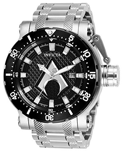 Invicta Men's DC Comics Automatic-self-Wind Watch with Stainless-Steel Strap, Silver, 26 (Model: 26831) (Men For Invicta Aqua Watches)