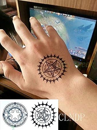 5pcs Impermeable del Tatuaje Pegatinas Compás TATOUAGE Tatto del ...