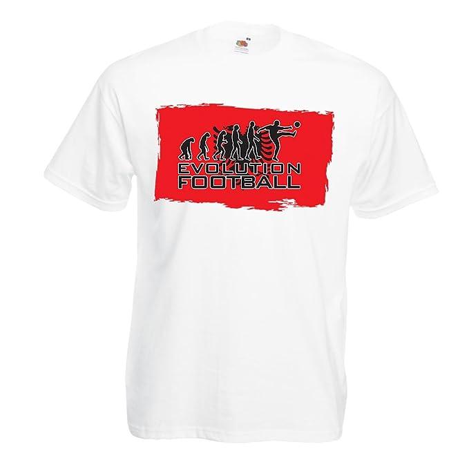 Camisetas Hombre Evolución del fútbol - Albania, Campeonato, Taza de Mundo, Camisa del
