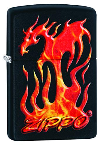 Zippo Flaming Dragon Design Pocket - Knife Pocket Zippo