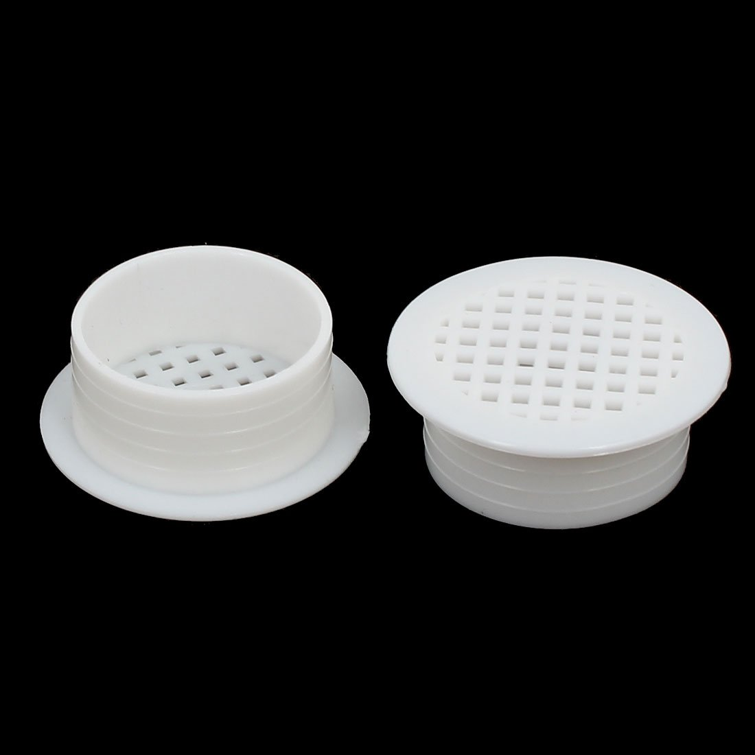 uxcell Shoes Cabinet 35mm Plastic Square Mesh Hole Air Vent Louver Cover White 30pcs by uxcell (Image #2)