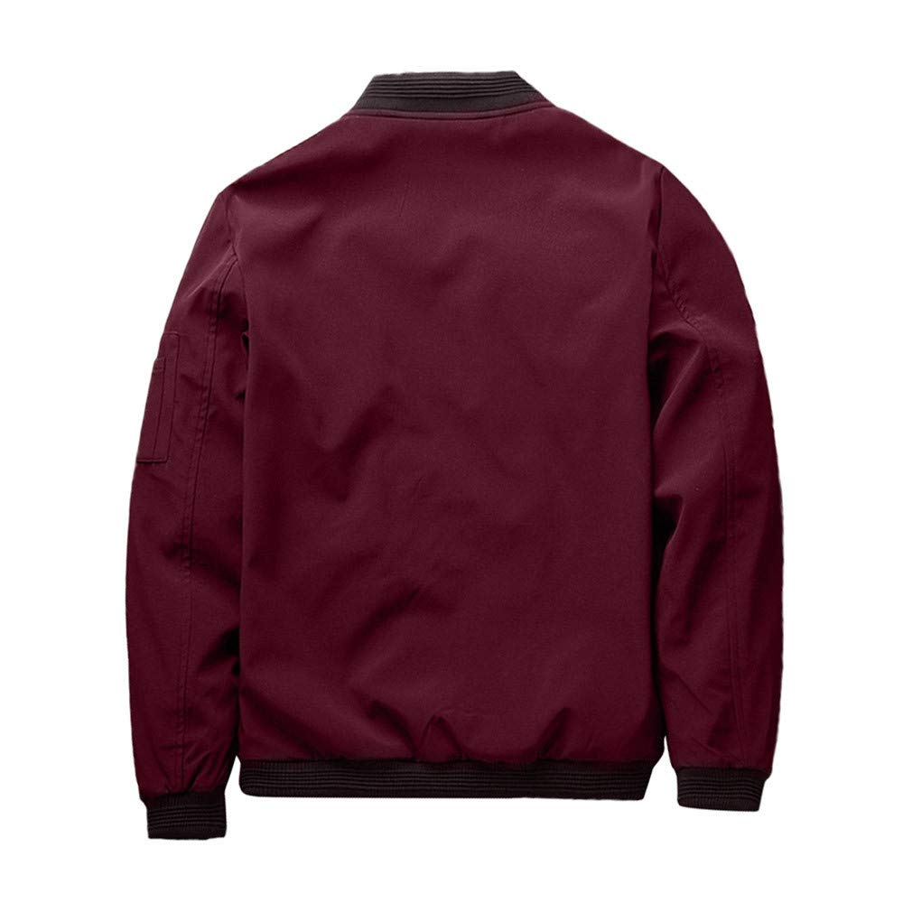 YKARITIANNA Mens 2018 New Solid Down Sports Work Wear Autumn Winter Casual with Pocket Zip Up Slim Fit Jacket Top Coat