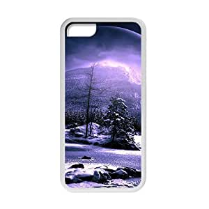 Galaxy Star Moon White Phone Case for iPhone 6 plus 5.5