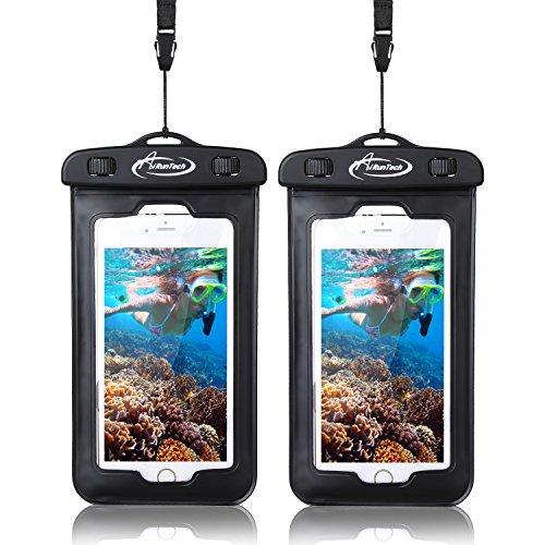 Sledding Bears (AiRunTech iPhoneX Waterproof Case(2 Pack), Waterproof Cell Phone Bag for Ice Fishing, Sledding,Skating,Skiing,Snowshoeing Universal Waterproof Pouch for iPhone 7/7 Plus/6s / Plus / 6 / 5s / 5 / 5c)