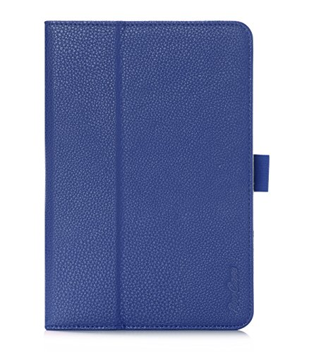 ProCase Samsung Galaxy Tab S2 8.0 Case - Stand Folio Cover Case for 2015 Galaxy Tab S2 Tablet (8.0 inch, SM-T710 / T715), with Hand Strap, auto Sleep/Wake (Navy Blue, Dark Blue)