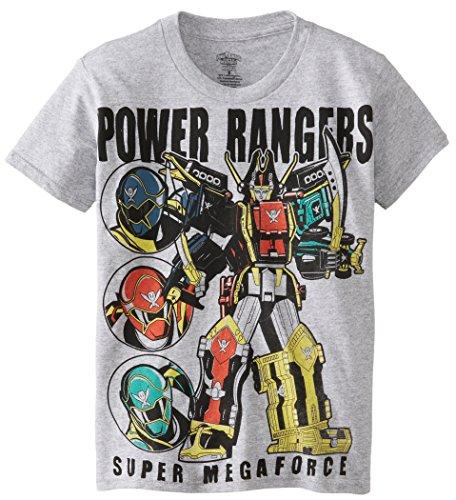 Power Rangers Big Boys' Megaforce T-Shirt, Heather Grey, X-Large/ 18 (Power Ranger Clothes)