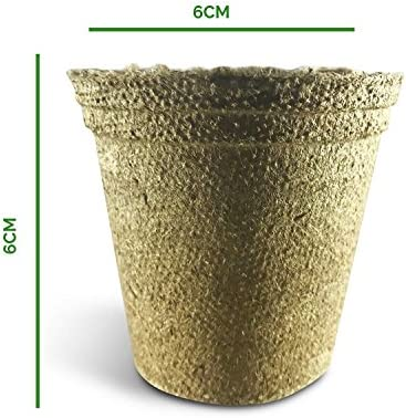 Watooma Macetas biodegradables, 100 macetas biodegradables de ...