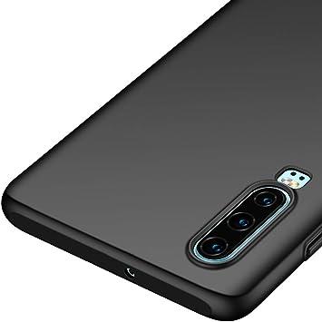 Richgle Funda Huawei P30, Negro Ultra Slim Protectora Funda Case ...