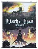 Attack on Titan Key Art Wallscroll, Multicolored