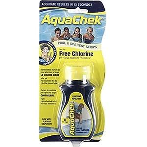 Aquachek cloro de 4Vías tiras de prueba, 50-Count, 2-PK–-P # ewt4365234r3fa631233